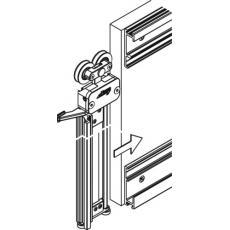 Garnitures pour portes à escamotage latéral en bois de 50 kg - Concepta 40/50