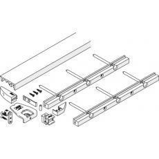 Kit de profils de sol - pour 2 vantaux - pour armoire avec socle - Folding Concepta 25