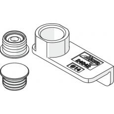 Pièces de centrage magnétiques - pour armoire sans socle et façades mi-hauteur - Folding Concepta 25