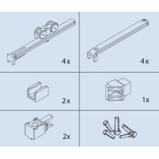 Ferrures pour vantail de 16 kg - Clipo 16 - Garnitures pour 2 portes