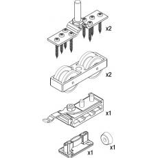 Garniture pour 1 porte coulissante pour vantail 120 kg - Junior 120/A