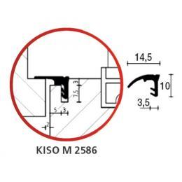 Joint d'étancheité horizontal et vertical en PVC noir pour coulissant à levage
