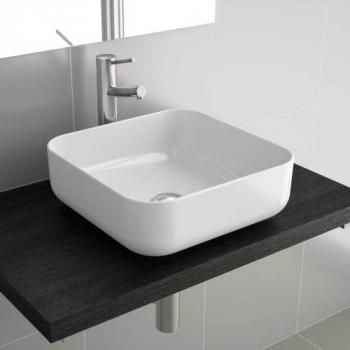 Vasque céramique carrée à poser Dolce 39 x 39 cm