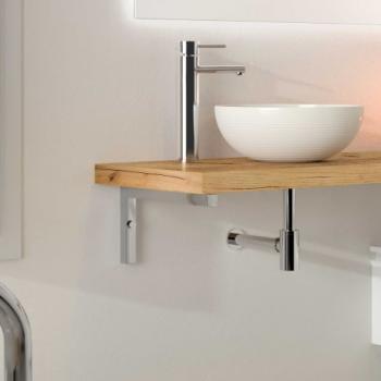Support de plan de toilette chromé 440 mm