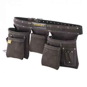 Porte-outils cuir double ceinture
