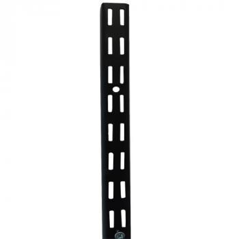 Crémaillère double perforation Quistinic - pas de 32 - noir mat