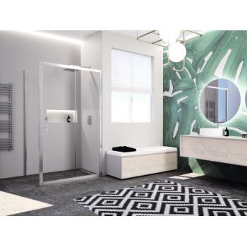 Paroi de douche à porte coulissante et partie fixe Paama