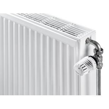 Radiateur panneau acier eau chaude horizontal Compact All In 4 trous