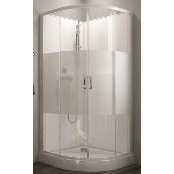 Cabine de douche 1/4 de rond à portes coulissantes Izibox 2