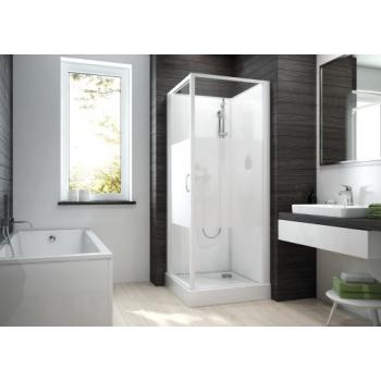 Cabine de douche carrée à porte pivotante Izibox 2