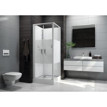Cabine de douche carrée à portes battantes Izibox 2