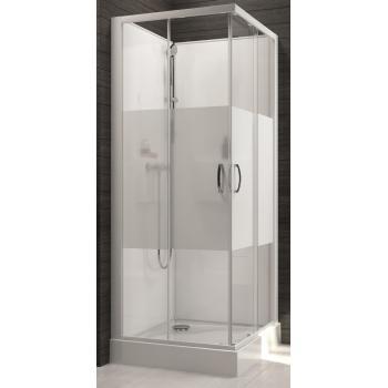 Cabine de douche carrée à portes coulissantes Izibox 2