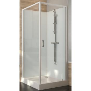 Cabine de douche carrée à porte pivotante Iziglass 2