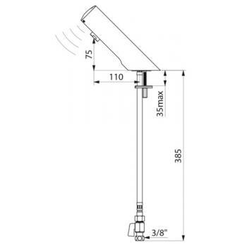 Robinet de lavabo électronique Tempomatic 4