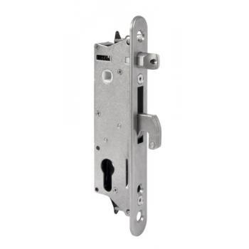 Serrure à larder à cylindre européen pour portail à profil tubulaire de 50 mm type Fiftylock