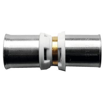 Raccord passerelle à sertir pour liaison tube multicouche et tuyau PER