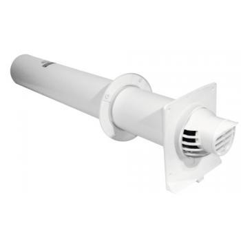 Terminal ventouse horizontal PP/PVC Rolux Condensation gaz et fioul