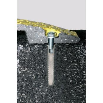 Fixations mécaniques filetées démontables pour asphalte