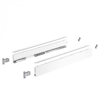 Kits profils côtés AvanTech YOU - tiroir simple hauteur 77 mm - Sous-four - Blanc