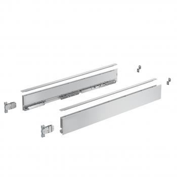 Kits profils côtés AvanTech YOU - tiroir simple hauteur 77 mm - Sous-four - Argent