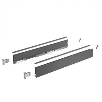 Kits profils côtés AvanTech YOU - tiroir simple hauteur 77 mm - Sous-four - Anthracite