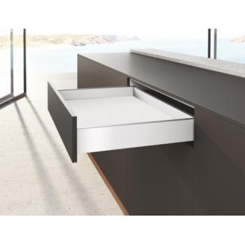 Kits profils côtés AvanTech YOU - tiroir simple hauteur 101 mm - Blanc