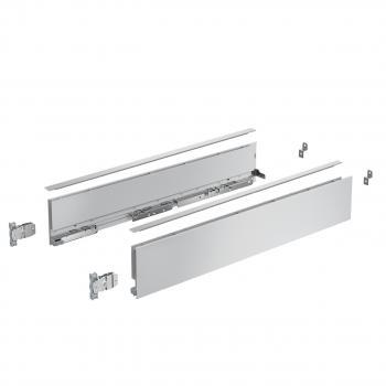 Kits profils côtés AvanTech YOU - tiroir simple hauteur 101 mm - Argent