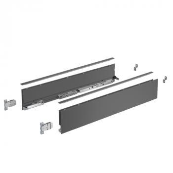 Kits profils côtés AvanTech YOU - tiroir simple hauteur 101 mm - Anthracite