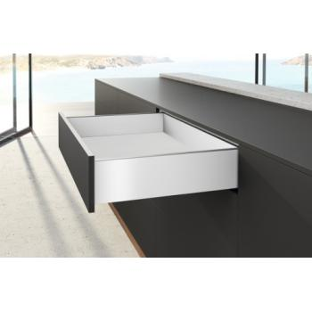 Kits profils côtés AvanTech YOU - tiroir simple hauteur 139 mm - Blanc