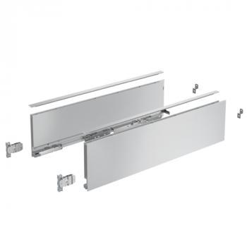 Kits profils côtés AvanTech YOU - tiroir simple hauteur 139 mm - Argent