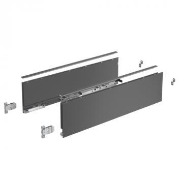 Kits profils côtés AvanTech YOU - tiroir simple hauteur 139 mm - Anthracite
