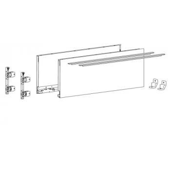 Kits profils côtés AvanTech YOU - tiroir casserolier hauteur 187 mm - Blanc