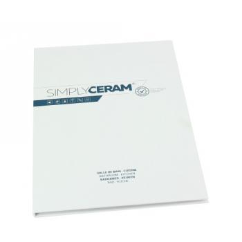 Echantillon de présentation Simplyceram - avec mini plan 300 x 200 mm
