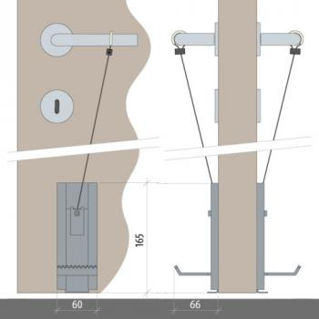 Kit de manœuvre ouvre-porte No Hander pour ouverture de porte mains libres en boîte de 2 pièces