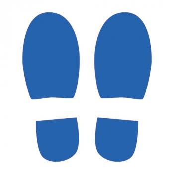 Adhésif sol pas bleus positionnement indicatif de la personne