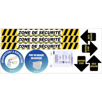 Kit de prévention signalétique adhésif Coronavirus
