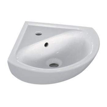 Lave-mains d'angle avec trop plein Ulysse 34x34x44 cm