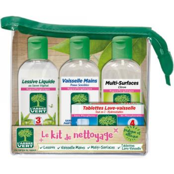 Kit d'accueil d'entretien liquide vaisselle, nettoyant multi-surfaces
