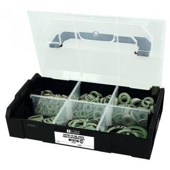 Coffret L-BOXX de 280 joints fibre élastomère vert Jarnon