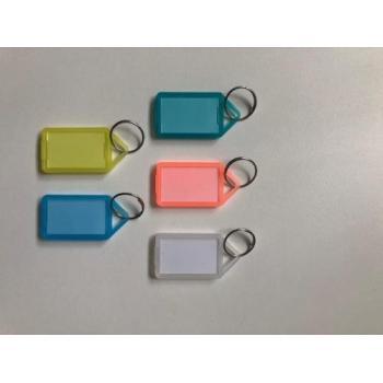 Porte clés à étiquettes larges transparentes
