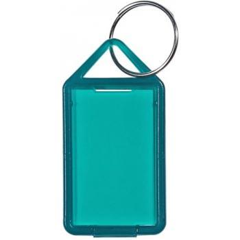 Porte clés à étiquettes large transparent