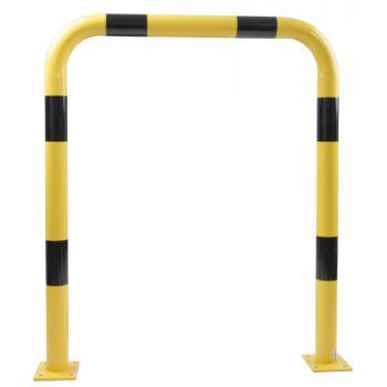 Barrière de protection à tube acier Ø 76 mm avec platine
