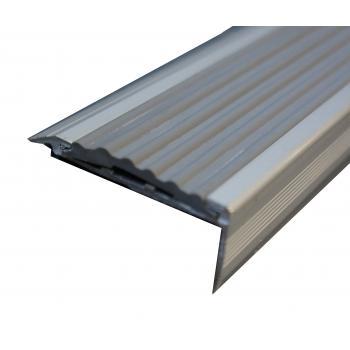 Nez de marche aluminium antidérapant avec recouvrement PVC - 10 pièces