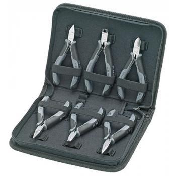 Trousse à outils avec 6 pinces ESD pour l'électronique
