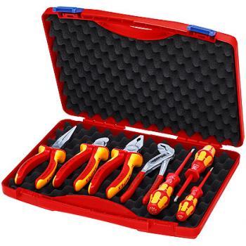 Coffret d'outils « RED » Électro Set 2 pour installateurs électriques