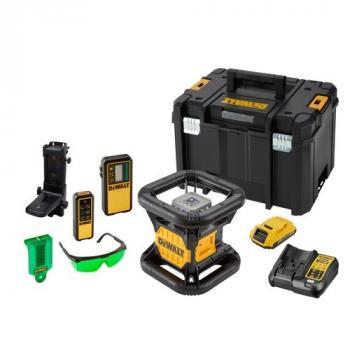 Niveau laser rotatif double pente intérieur/extérieur XR 18V - faisceau vert - 1 batterie 2Ah Li-ion - DCE079D1G-QW