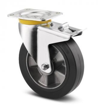 Roulette pivotante à frein de manutention lourde sur roulements à billes - Zeta 4687 IEP