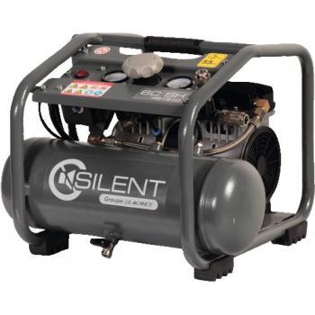 Compresseur d'air électrique à pistons silencieux sans huile 6 litres 0,75 CV - Silent 6 C SH