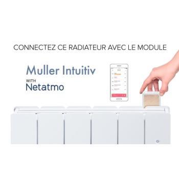 Radiateur électrique chaleur douce Etic compact digital horizontal