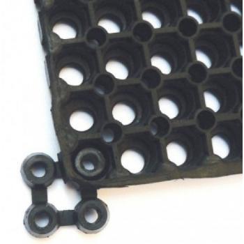 Jonctions 4 points pour caillebotis caoutchouc 22 mm